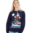 Coca Cola - The Holidays are Coming - Christmas - Ladies - Jumper - Navy - S-XL £19.99  on eBay