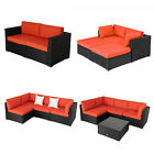 2-5 Piece Rattan Wicker Patio Sofa Set Sectional Garden Yard Furniture Orange
