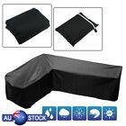 L Shape Waterproof Garden Rattan Corner Furniture Cover Outdoor Sofa Protect New