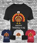 New Happy Thanksgiving turkey Nurse friends funny gift t-shirt wkrp drop tee
