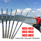 Carbon Fiber Fishing Rod Telescopic Hand Pole 3.6m-7.2m For Carp Fishing Tools