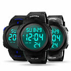 2019 Men's Digital Sport Watch Waterproof LED Screen Large Face Military Watches