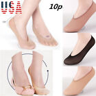 10 Pair Women Loafer Boat Invisible No Show Nonslip Liner Low Cut Cotton Socks