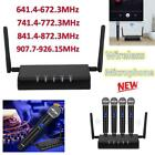641.4-926.15MHz 1 to 4 Professional Handheld Wireless Microphone System Kit Suit