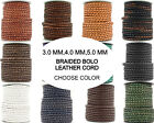 Xsotica  Round Bolo Braided Leather Cord 3mm,4mm,5mm-1 Yard -Choose Color