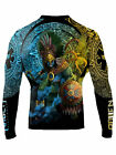 Raven Fightwear Men's Huitzilopochtli Aztec Rash Guard MMA BJJ Black