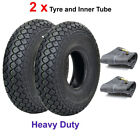 Pair of 4.00-5 (330 x 100) Black Mobility Scooter Tyres with Inner Tubes