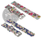 2pcs Women Retro Rose Flowers For Amazfit Replacement Silicone Watch Strap Band