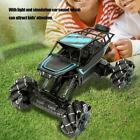 1:12 2.4G 4WD Alloy Stunt Drift Remote Control Car With Light Sound RC Truck Toy
