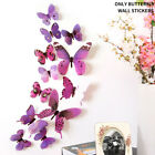 Home Adhesive Diy 12 Simulation Butterfly 3d Decoration Wall Sticker Living Room