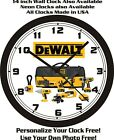 DeWALT POWER TOOLS WALL CLOCK-FREE USA SHIP!