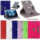 "360 Rotate Universal Case PU Leather Cover For All ASUS Google Nexus 7"" 10"" Tab"