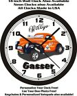 WILLYS GASSER COUPE WALL CLOCK-FREE USA SHIP!