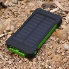Waterproof 10000mAh 2 USB Power Bank 2 LED Solar Battery Charger For Stall Phone