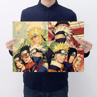 Naruto Classic Cartoon Kraft Paper Bar Cafe Retro Poster Decorative Painting