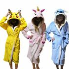 1 Pc Unisex Animal Sleepwear Robe Sleep Cute Nightgown unicorn Stitch night Bath