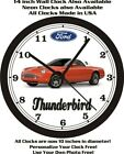 2003-2005 FORD THUNDERBIRD WALL CLOCK-Choose 1 of 2 and other colors available!