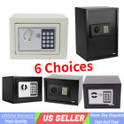 White / Black Safe Security Box Home Hotel Office Wall Cabinet Keypad Lock USA