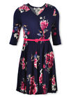 Speechless Girls Floral Belted Wrap Dress