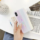 Pink laser glossy mobile phone case Phone Case for iPhone 7 7 Plus 8 8+ X Xs 6s