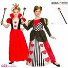 Girls Storybook Queen of Hearts Costume Childs Kids Book Day Fancy Dress Outfit