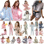 Women Sexy Pajamas Set Breathable Nightwear Casual Top Drawstring Shorts/Pants