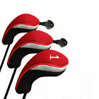 Golf Head Covers Woods Set Long Interchangeable Driver Fairway Hybrid Club Cover