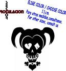 r2178- Harley Quinn Death Skull Calavera Adhesivo Cartoon Vinyl Decal Sticker