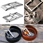 Men CNC metal Belt Buckle Waist Buckle w/ Pills box Container with Leather belt