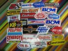 vtg 1980s 1990s Auto Racing sticker - Hill Valley B&M Justice Synergyn Weiand