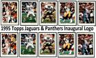 1995 Topps Inaugural Logo - Set Break # 249-468 Both Versions Jaguars $5.49 USD on eBay