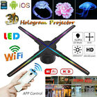 512 LEDs Wifi 3D Hologram Projector Holographic Advertising Display Player Fan