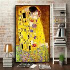 Classic Gustav Klimt Kiss Abstract Oil Painting Canvas Art Wall Living Room