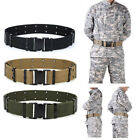 adjustable heavy duty combat military tactical belt with quick release buckle