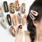 Women's Acrylic Hair Slide Clips Snap Barrettes Hairpin Pins Hair Accessories