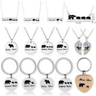 Silver Mama Bear Necklace Pendant Family Mom Mother's Day Birthday Gifts Charm