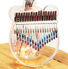 Kimi Kalimba Acrylic Thumb Piano 17 Keys with Tuner Hammer Gig Bag Pop