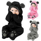 Kyпить Infant Baby Kid Girl Boy Solid Cartoon Ear Hoodie Romper Clothes Fleece Jumpsuit на еВаy.соm