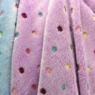 Colorful Dots Jacquard Reversible Puffy Fabric for Cloth Craft Carpet By Metres