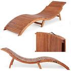 Folding Chair Wood Sun Lounger Garden Sauna Deck Coffeee Table Day Bed Outdoors