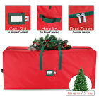 Waterproof Tree Storage Bag Fits Up to 7.5 Ft, Xmas Tree Box W/ Carry Handles