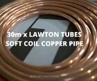30x METERS LAWTON TUBES AIR CONDITIONING COPPER PIPES TUBE SOFT COILS