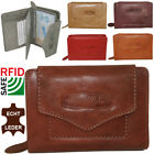 Ladies Real Leather Wallet with Rfid Protection Wallet Purse for Women