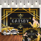 Roaring 20s Backdrop The Great Gatsby Gold Photo Background Retro Party Backdrop