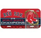 Boston Red Sox World Series Champs 2018 Plastic License Plate on Ebay