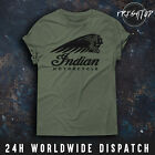 Indian Motorcycle T Shirt Logo Motorbike Biker Cafe Racer Triumph Chopper Retro $12.6 USD on eBay