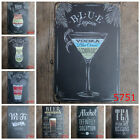 Retro Metal Poster Bar Cafe Cocktail Beer Tin Sign Pub Wall Hanging Home  t