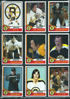 1974-75 BOSTON BRUINS High Grade Hockey Card Style PHOTO CARDS U-Pick Mint THICK $2.35 CAD on eBay
