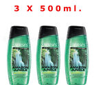 "AVON X 3 Senses ""Amazon Jungle"" Shower Gels For Him, 3 x 500 ml. New, Gift Set"