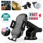 2 in 1 Wireless Car Fast Charging Charger Air Vent Automatic Clamp Holder Mount